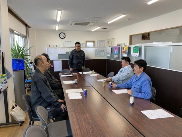 2019/03/20 本社営業所にて相生営業所新入社員入社式を開催