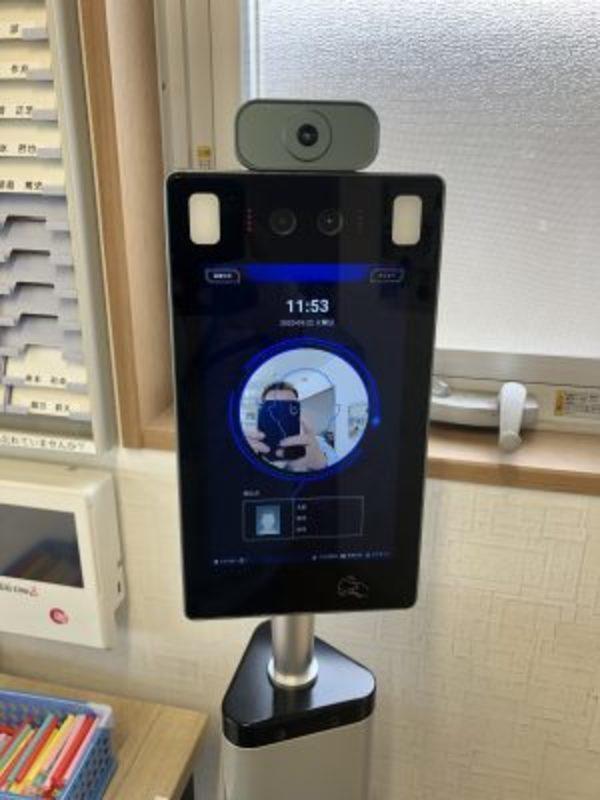 2020/09/21 非接触型顔認識体温測定器・非接触型消毒器を導入しました